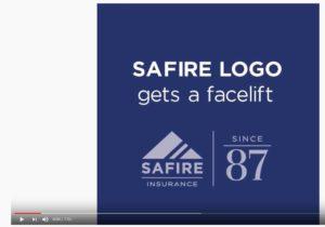 SAFIRE logo in you tube video